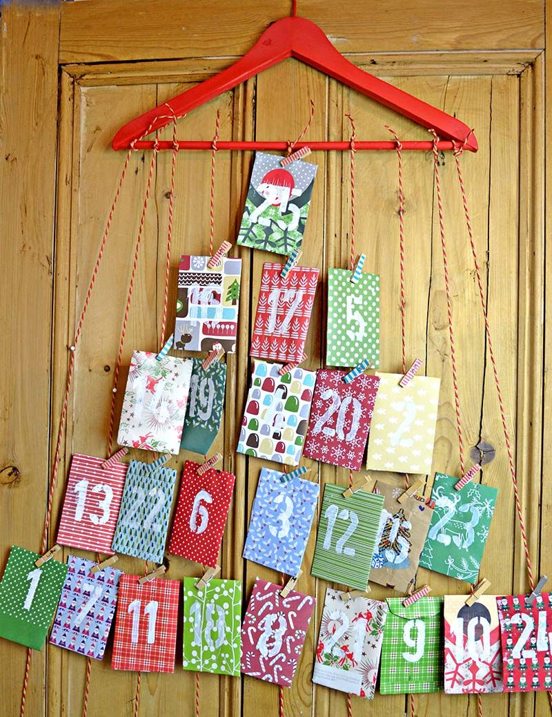 Homemade Paper Envelope Advent Calendar
