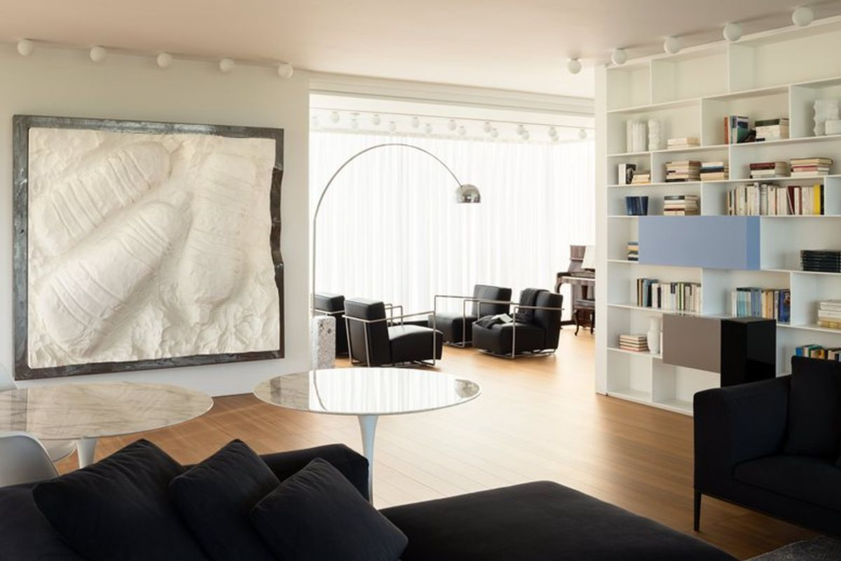 House C by Zaetta Studio top floor lounge armchairs