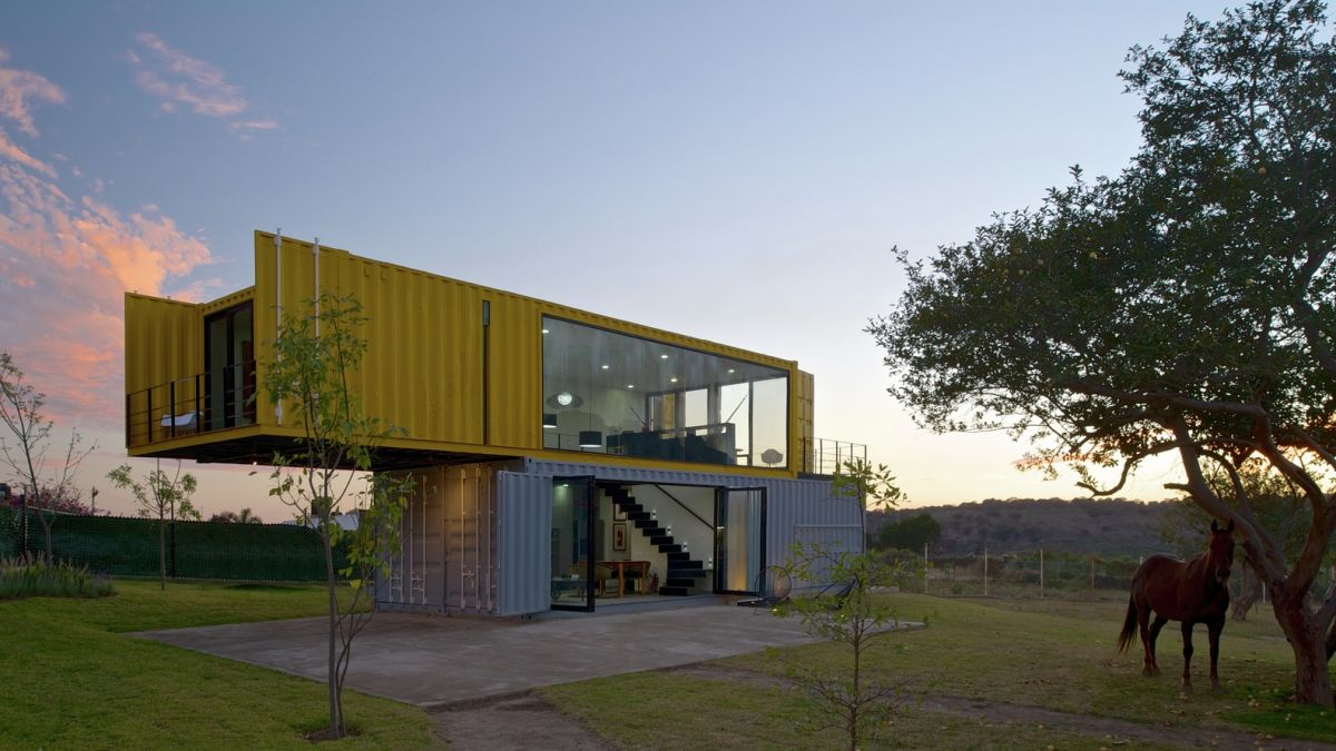 Huiini House by S+diseno stacked containers and terraces