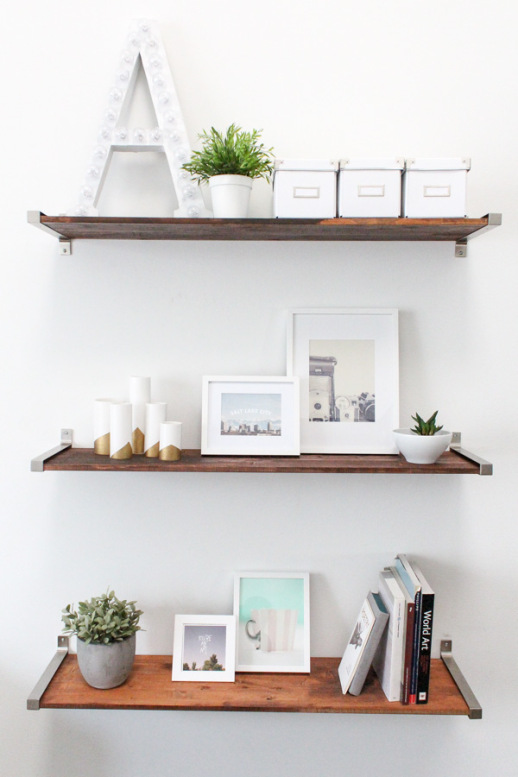 IKEA Distressed Wood Shelves
