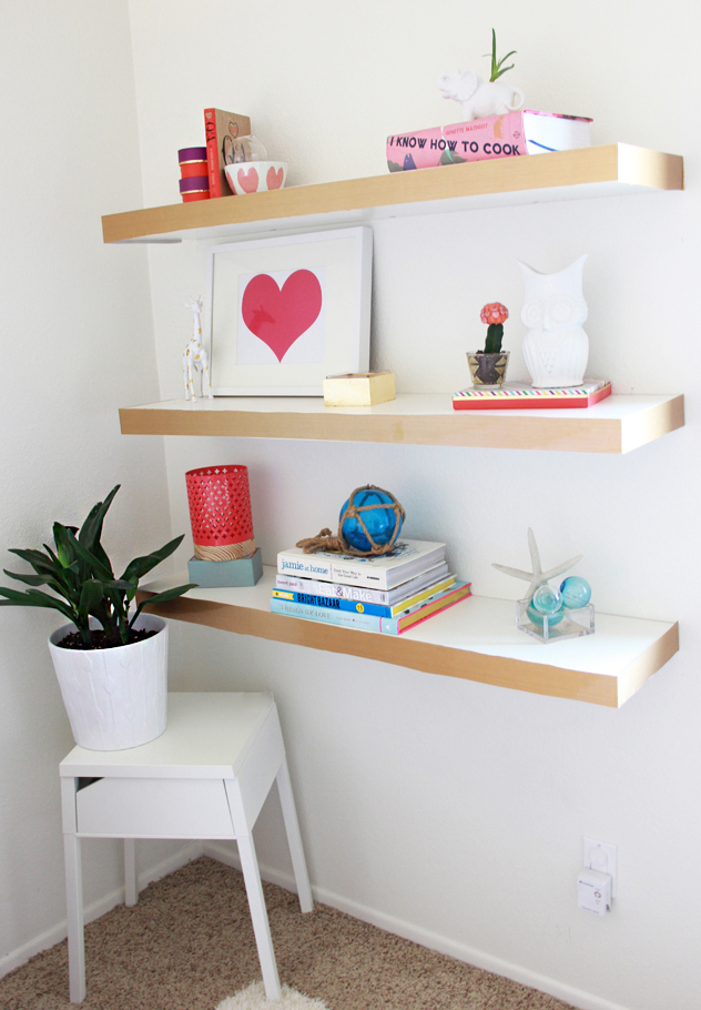 Ikea float hack shelves