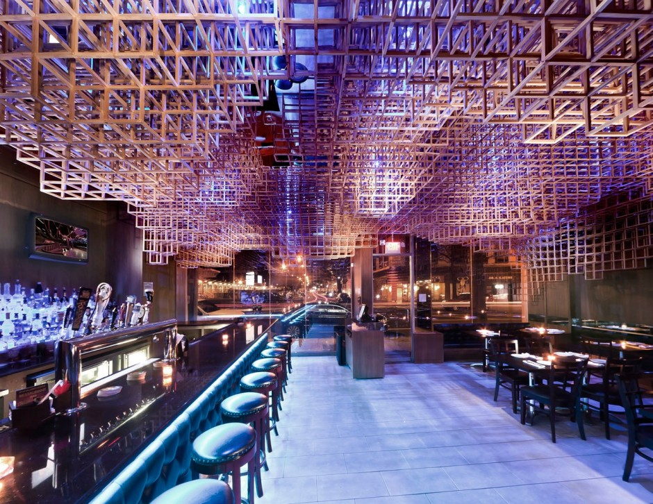 Innuendo Restaurant Ceiling Installation by bluarch