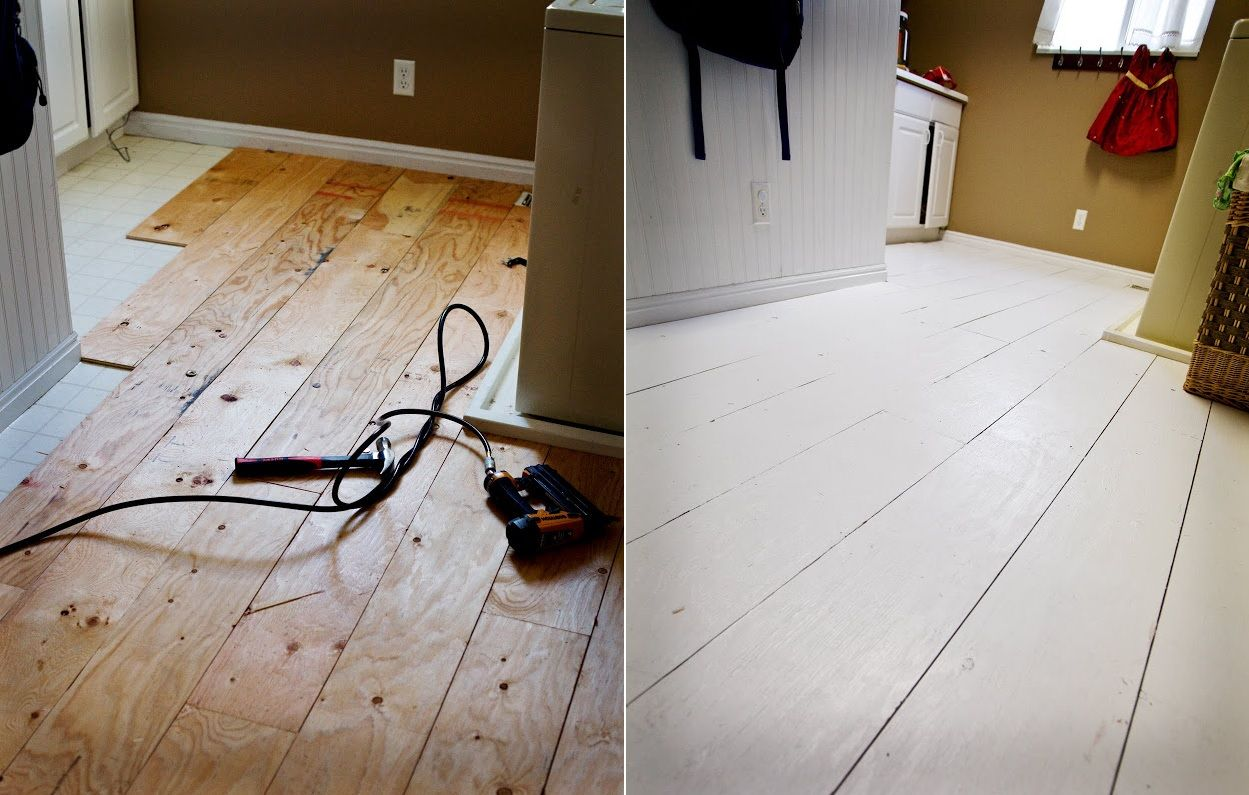 Install and Paint a Plywood Floor