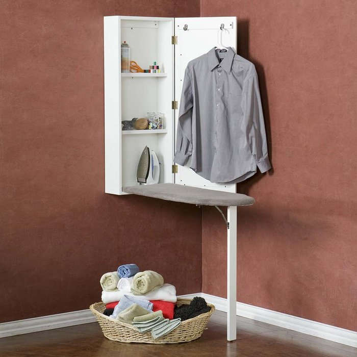 Gentil Ironing Board With Storage Cabinet