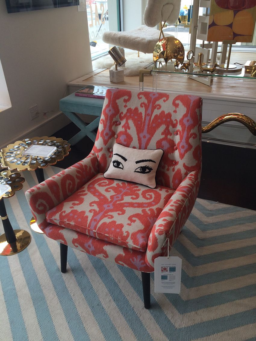 Jonathan Adler Chair With Eye Pillow
