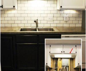 DIY Industrial Bathroom Light Fixtures · DIY Kitchen Lighting Upgrade: LED  Under Cabinet Lights U0026 Above The Sink