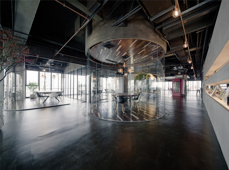 LEO headquarters in Shanghai distinct work spaces