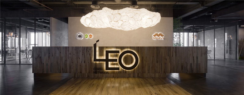 LEO headquarters in Shanghai reception desk