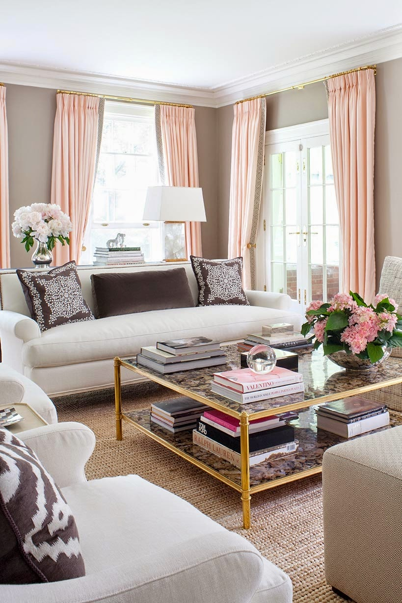 Living room with Feminine Touches