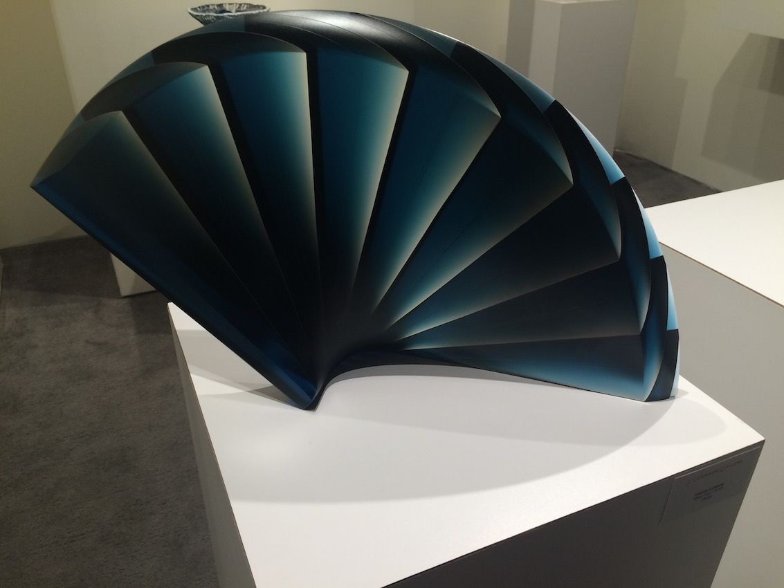 "Lukacsi's ""Blue Fan"", 2015, was Winner of the Gold Prize at the International Exhibition of Glass Kanazawa, Japan in 2011."