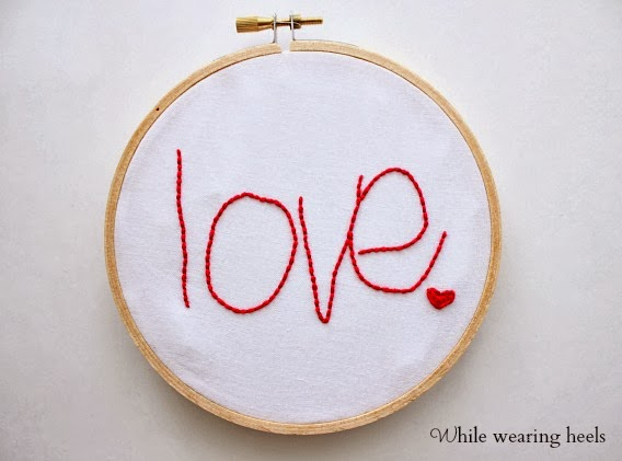 Love handwriting sing on hoop