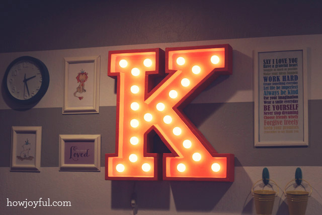 Marquee letters for nursery