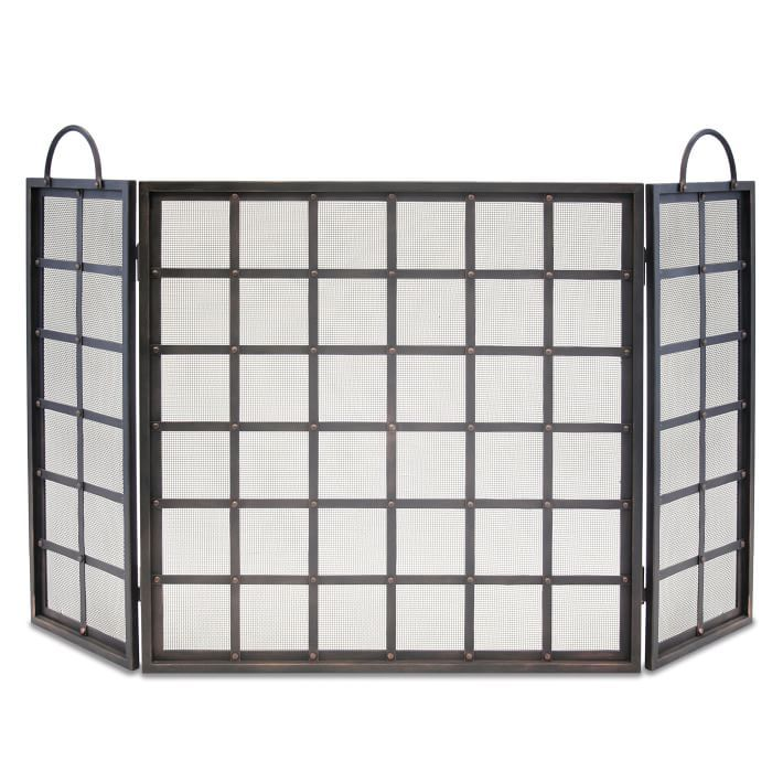 Masculine Fireplace Screen