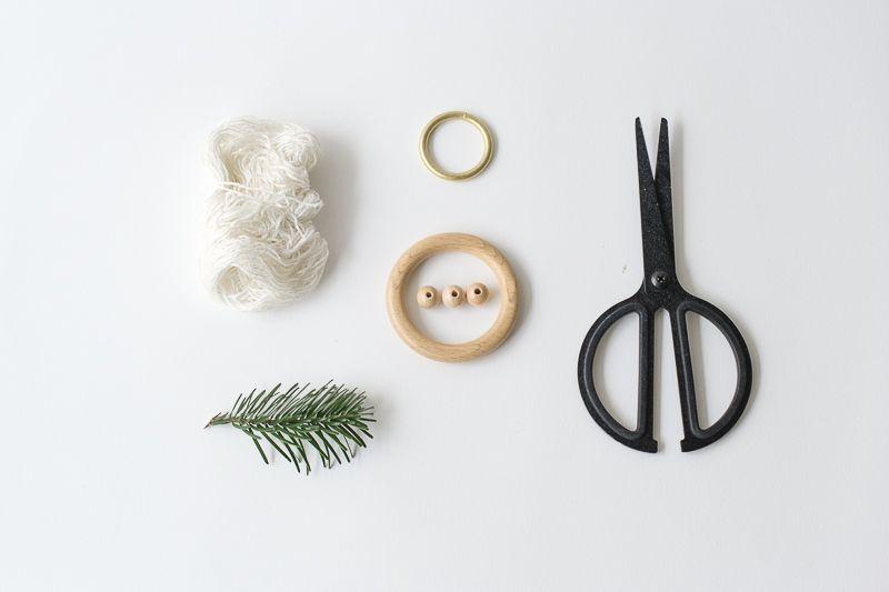Materials To DIY Christmas Mobile
