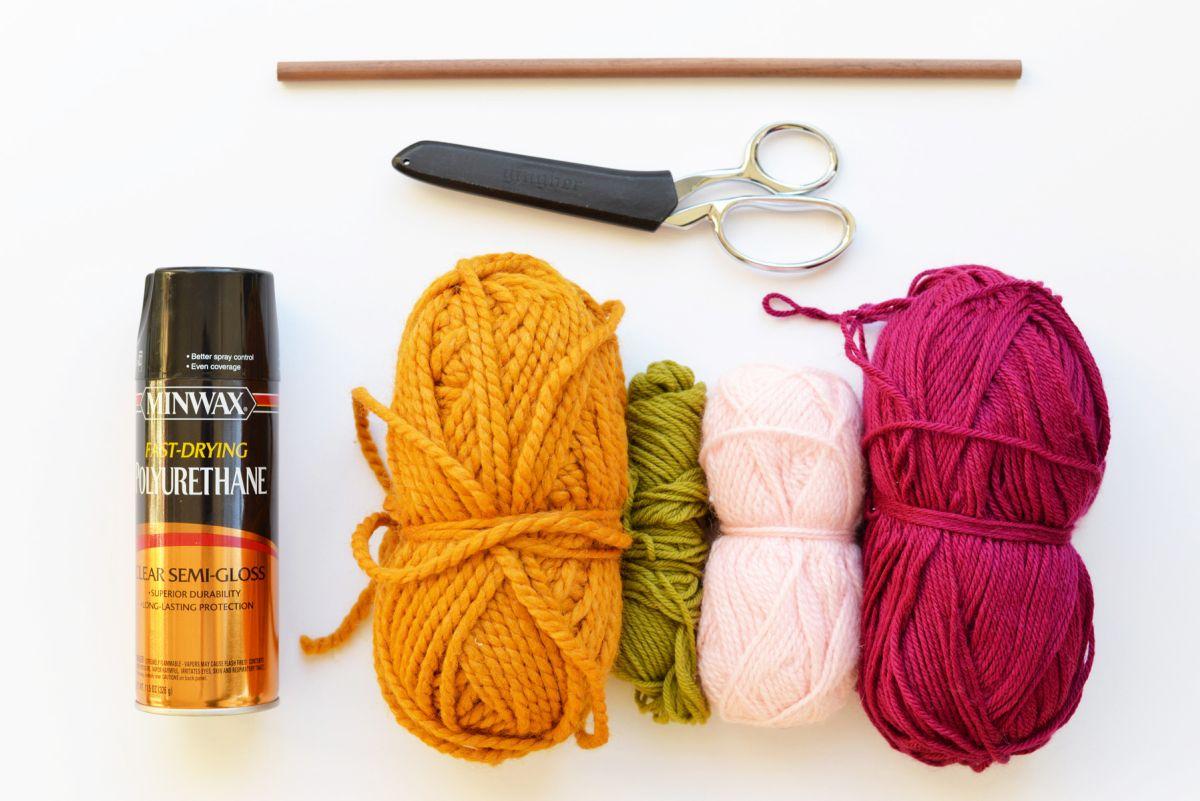 Materials to DIY String Wall Art