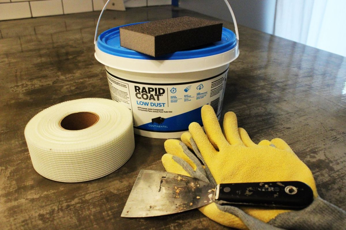 How To Install Or Repair Drywall For A Kitchen Backsplash