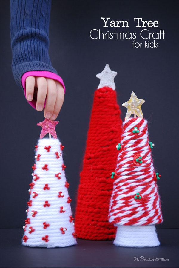 Mini Yarn Christmas Tree