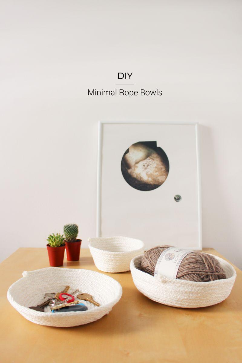 Minimalist rope Bowls