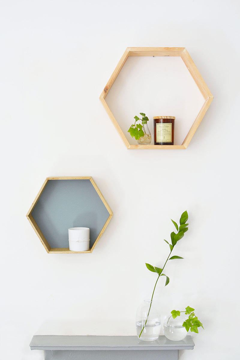 Modern honeycomb shelves you can start build