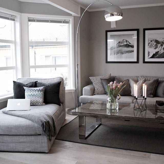 modern living room with a touch of grey - Gray Home 2015