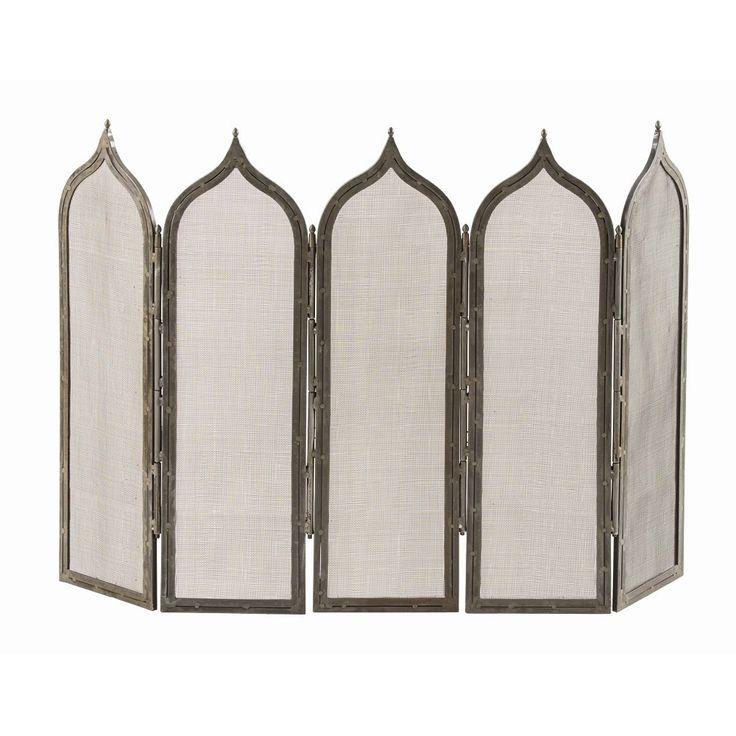 Morroccan fireplace screen