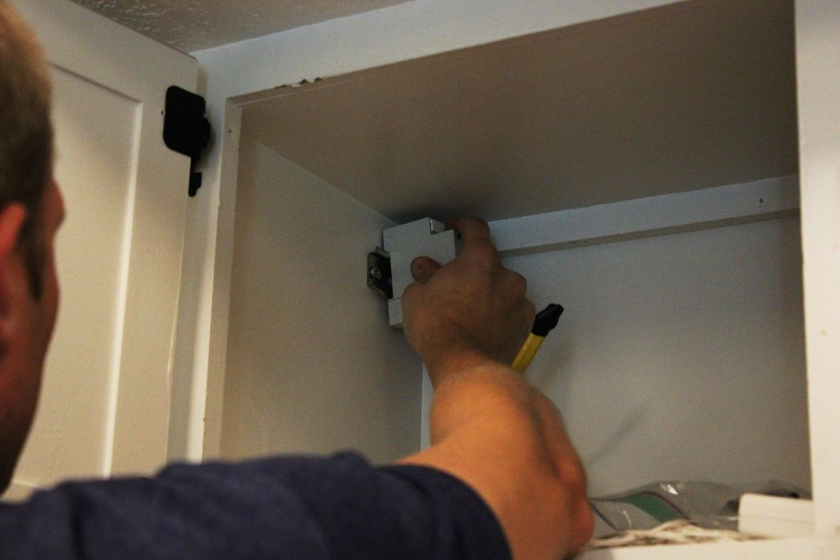 Mount the single outlet box