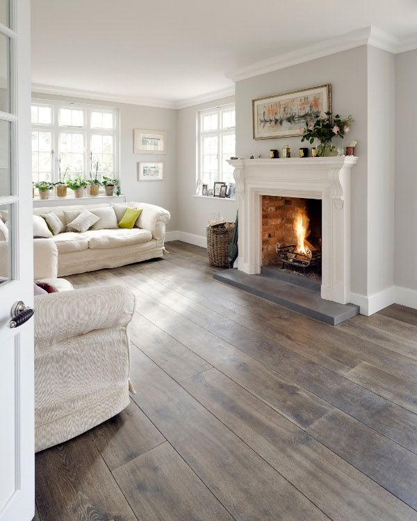 Exceptionnel Natural Grey Living Room With Reclaimed Wood Floor