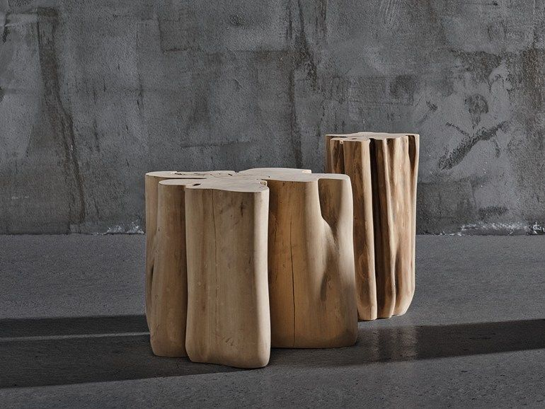 Natural wooden coffee table