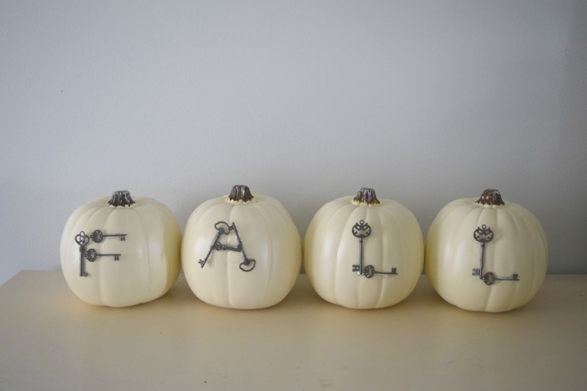 Neutral colored pumpkins