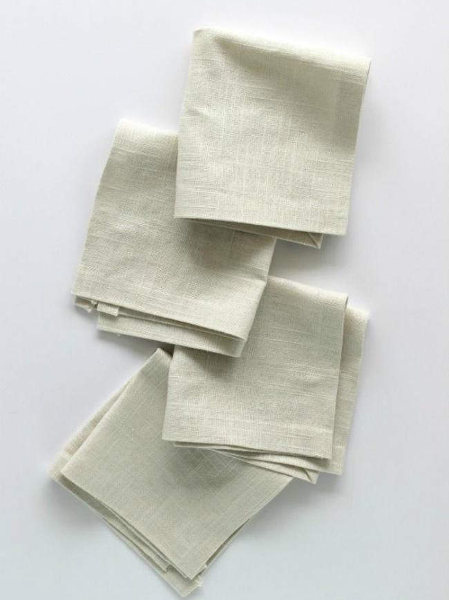 No sew linen napkins