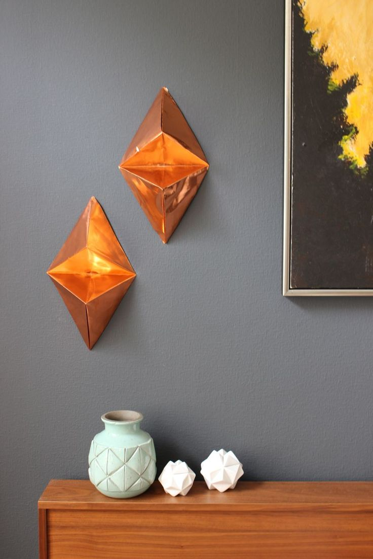 Origami art gallery wall