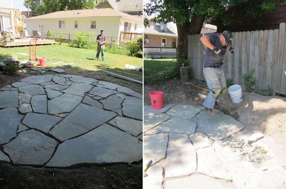 Patio Sand Stone DIY - How To Set Up A Flagstone Patio Design