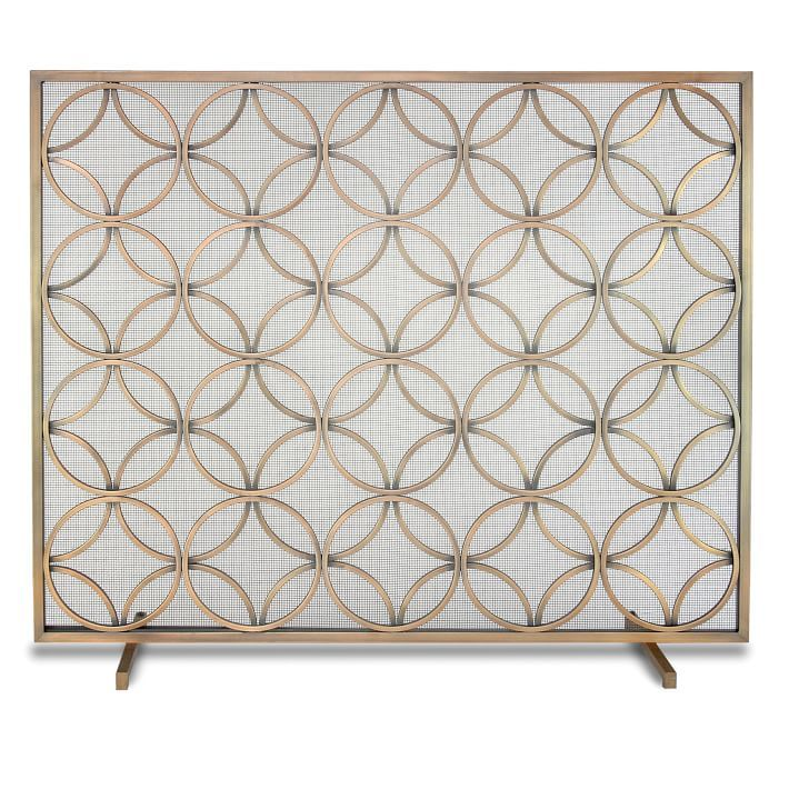 Perfect Patterned Fireplace Screen Photo Gallery