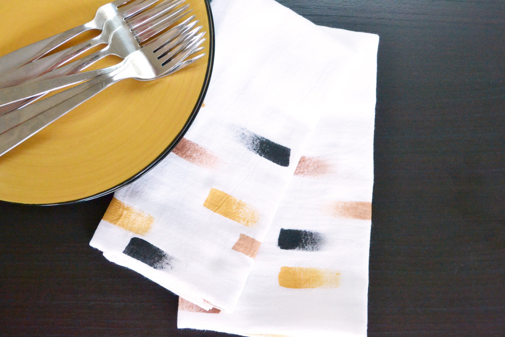 Personalized Brush Stroke Napkins