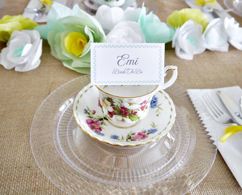 Bridal shower party supplies - Place Settings