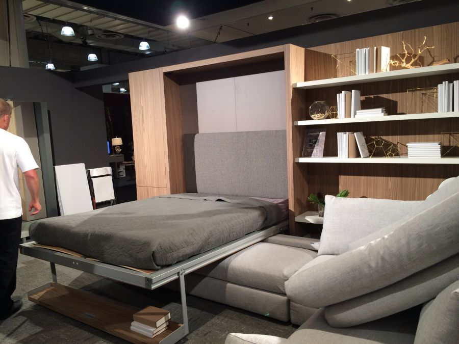 Resource furniture at ICFF 2015 - Space saving furniture demo open