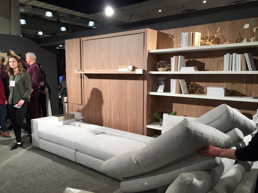 Resource furniture at ICFF 2015 - Space saving furniture demo