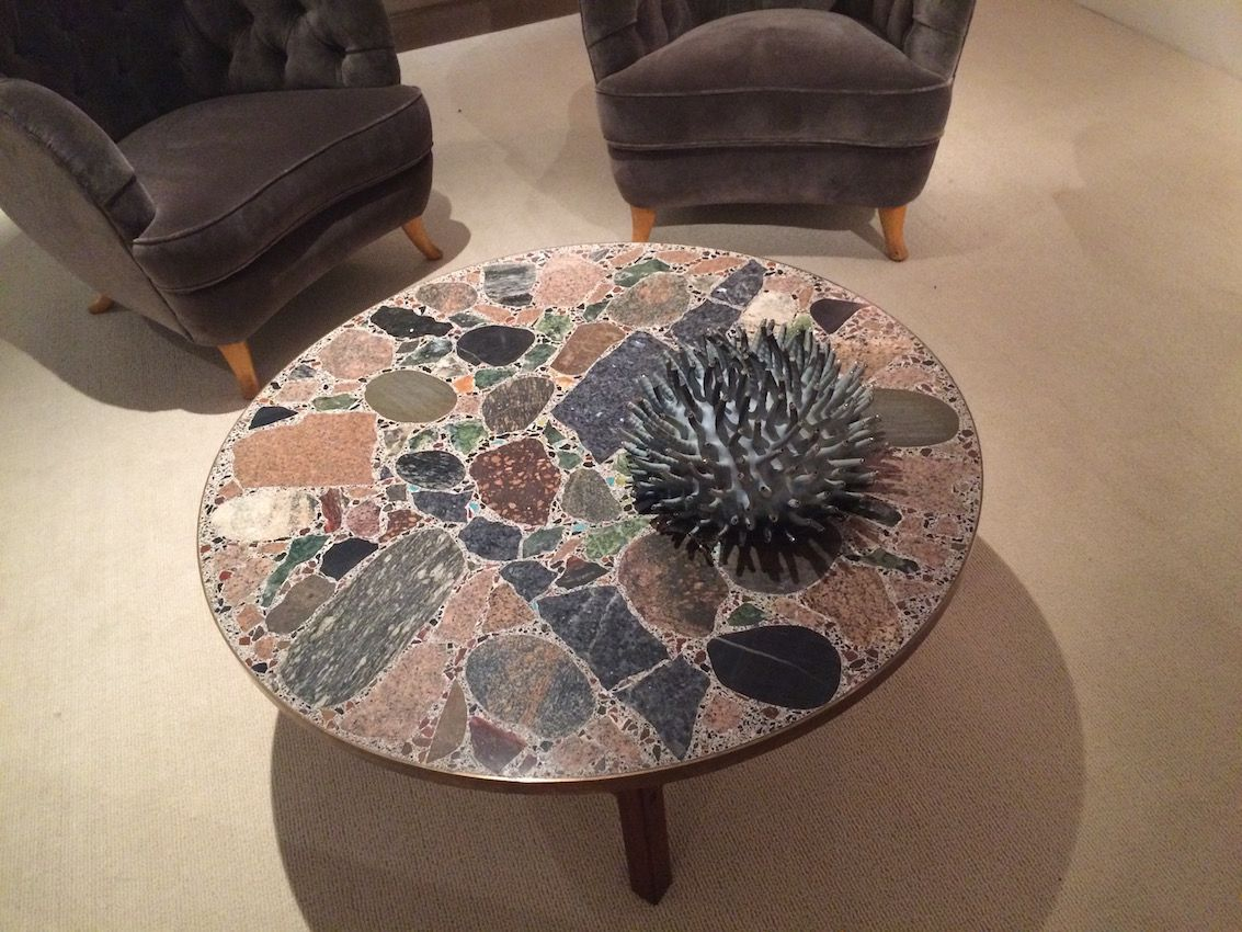 A remarkable stone table is right for any living space.
