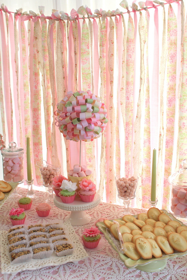 Ribbon Garland Tea Party