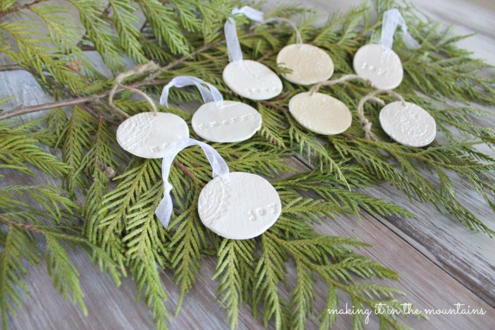 Rustic Clay Christmas Ornaments