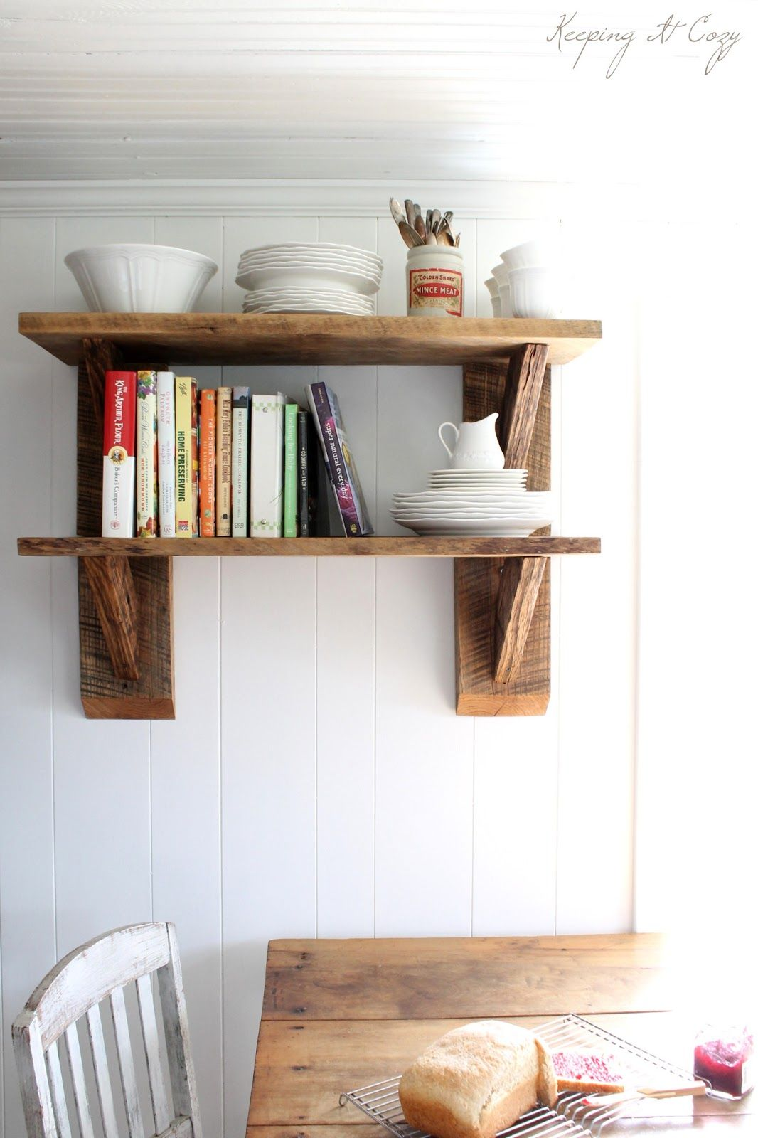 Captivating Rustic Shelves From Reclaimed Wood