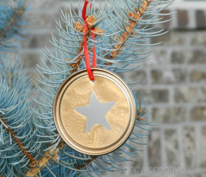 Silver and Gold Juice Lid Ornaments