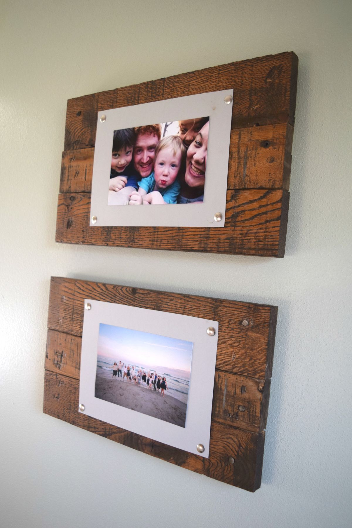 Simple and rustic scrap wood picture frame