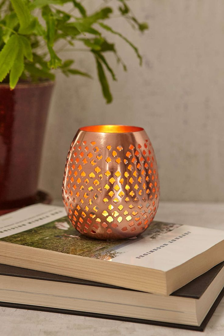 Starry copper lantern