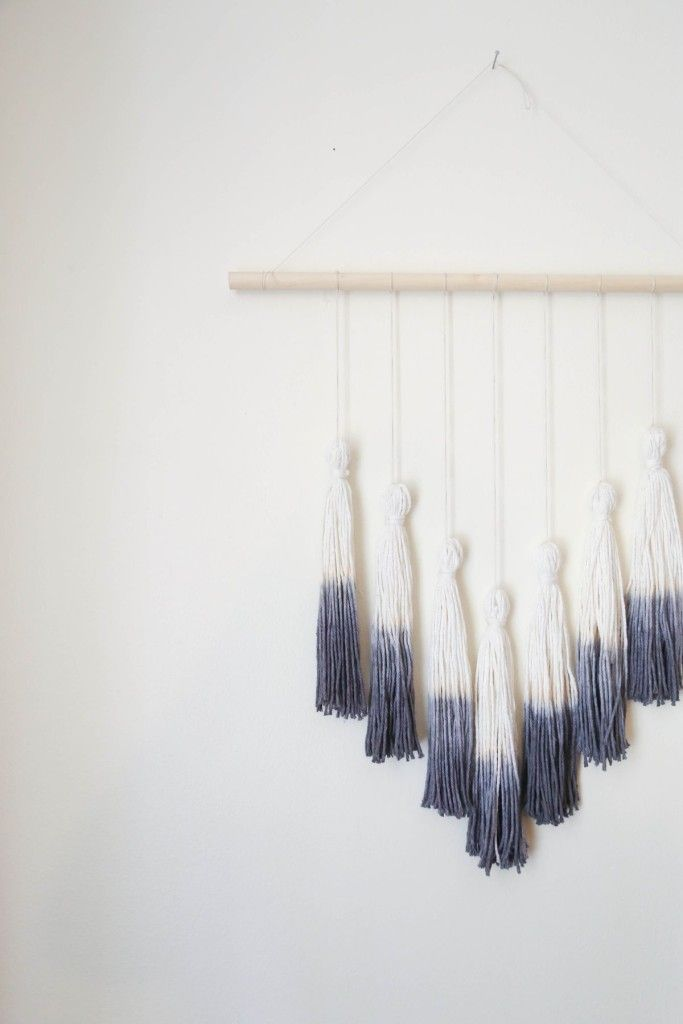 Tassel hanging gallery wall