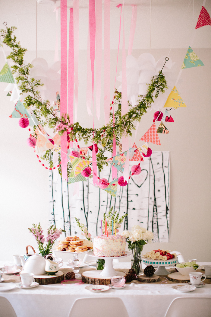 Tea party colorful garland