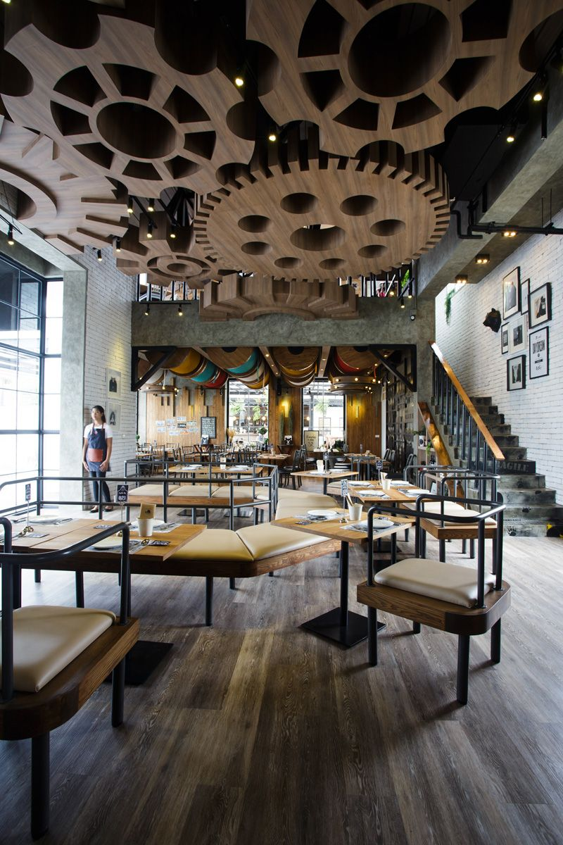 Restaurants with striking ceiling designs