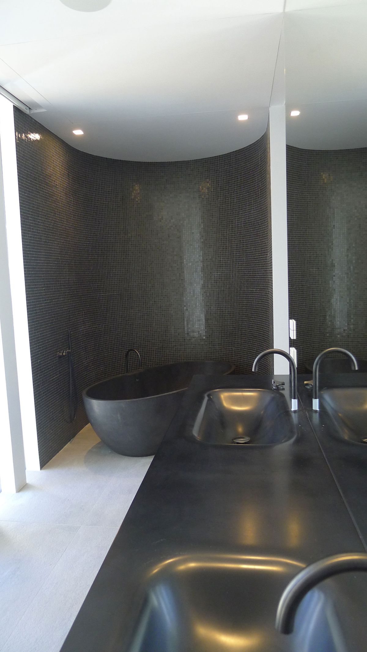 The Cool Blue Villa's luxury bathroom minimalism