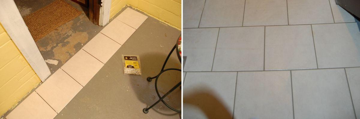 Tiles flooring makeover