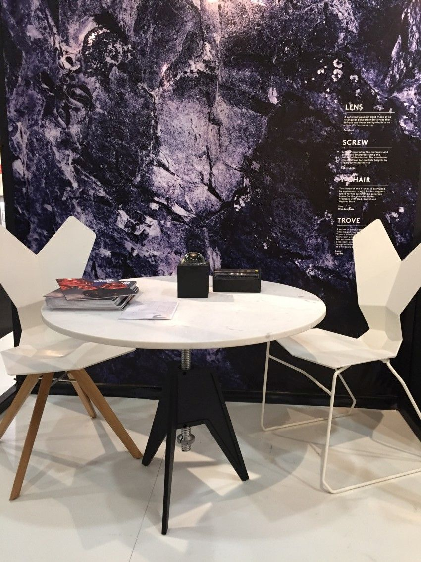 Tom Dixon's Y Chair and Screw Table.